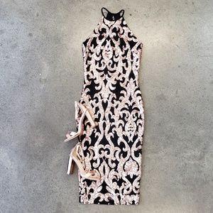 NWT! LULUS BODYCON SHORT SEQUIN DRESS